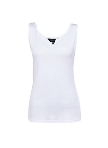 Dorothy Perkins White Notch Neck Vest