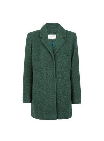 *vila Green Boucle Boyfriend Coat