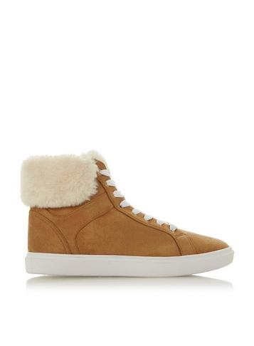 Dorothy Perkins *head Over Heels By Dune Brown 'ello' Ladies Trainers