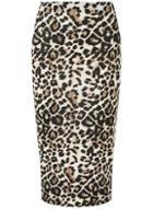 Dorothy Perkins Multi Coloured Leopard Print Pencil Skirt
