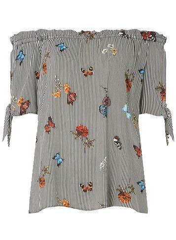 Dorothy Perkins Striped Butterfly Bardot Top
