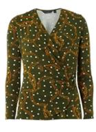 Dorothy Perkins Khaki Chain Spot Print Top