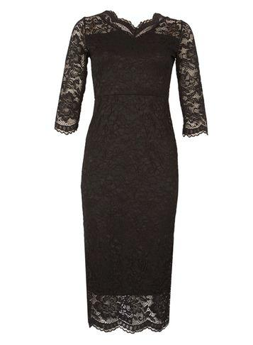 Dorothy Perkins *feverfish Black Lace Scallop Bodycon Dress