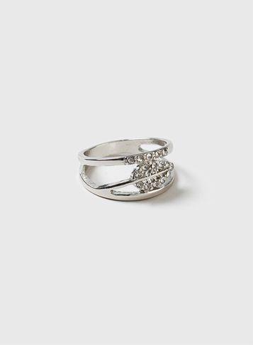 Dorothy Perkins Leaf Rhinestone Ring