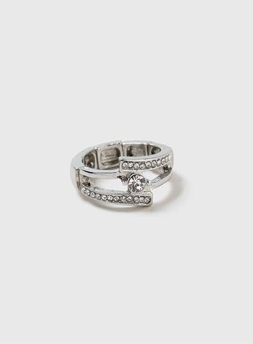 Dorothy Perkins Crystal Stretch Ring