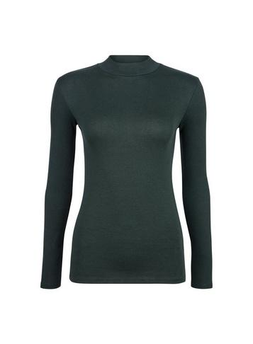 Dorothy Perkins Green Plain Funnel Neck Top
