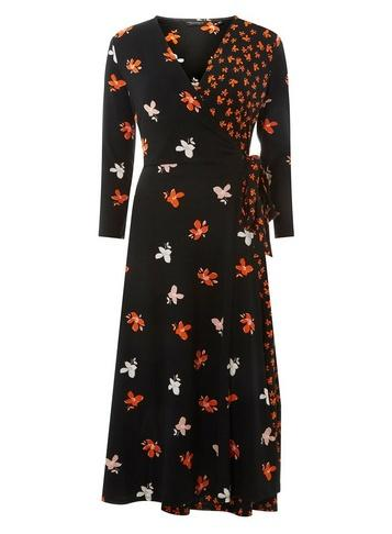 Dorothy Perkins Black Mix And Match Wrap Dress