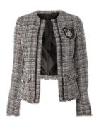Dorothy Perkins *tall White Bouckle Jacket