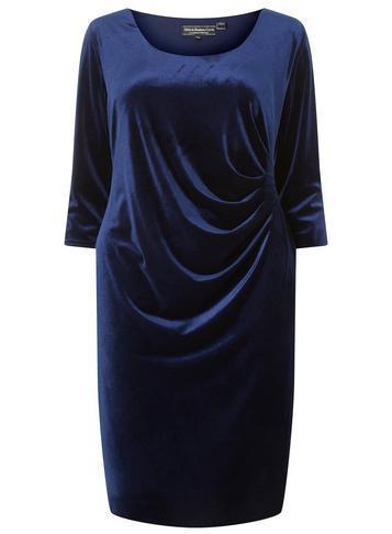 Dorothy Perkins *billie & Blossom Curve Navy Bodycon Dress