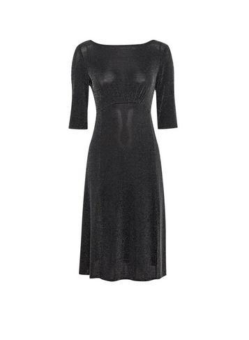 Dorothy Perkins Petite Black Shimmer Midi Dress