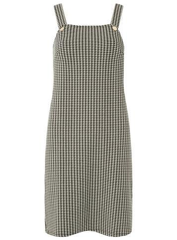 Dorothy Perkins Black And White Puppytooth Pinafore Dress
