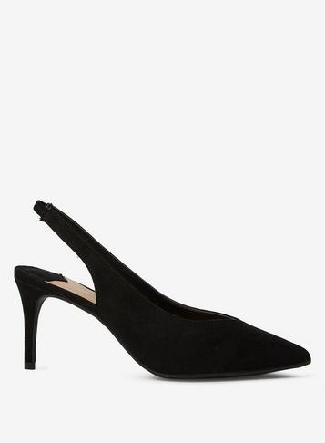 Dorothy Perkins Wide Fit Black Essie Court Shoes