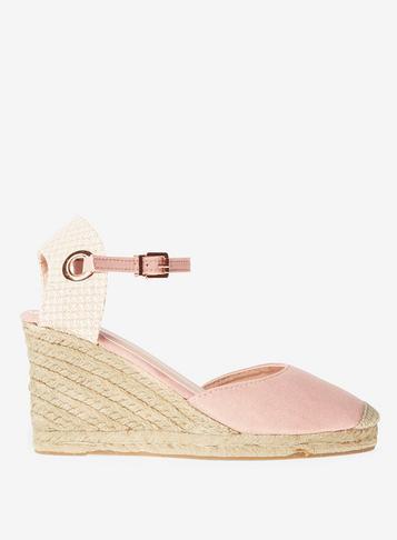 Dorothy Perkins Rose Raven Espadrille Wedge Sandals