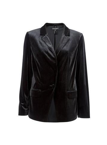 Dorothy Perkins Black Velvet Tailored Jacket