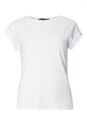 Dorothy Perkins White Frill Sleeve T-shirt