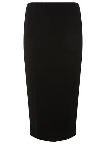 Dorothy Perkins *tall Black Textured Pencil Skirt