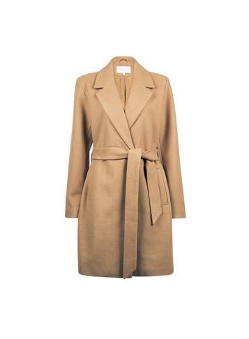 *vila Camel Tailored Belted Coat