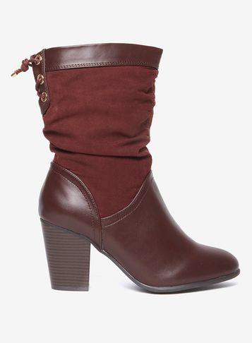 Dorothy Perkins Wide Fit Burgundy 'kassy' Boots