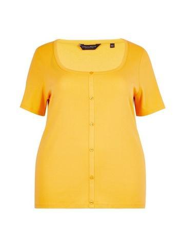 Dorothy Perkins *dp Curve Yellow Button Down T-shirt
