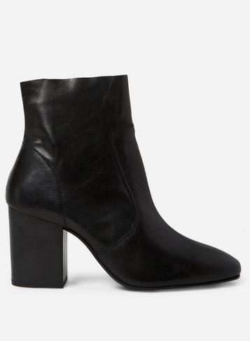 Dorothy Perkins Black 'abstract' Leather Boots