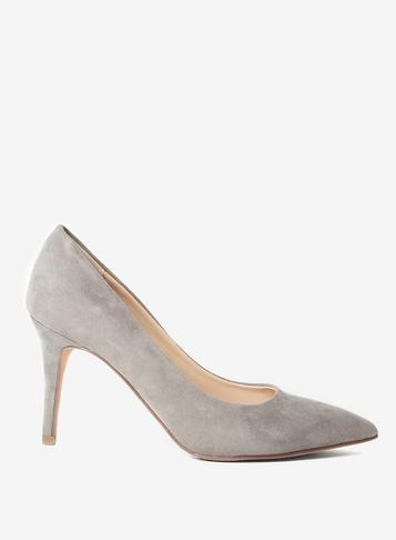 Dorothy Perkins Grey New Lower Heel 'electra' Court Shoes