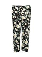 Dorothy Perkins *dp Curve Black Lily Print Palazzo Trousers