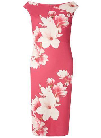 Dorothy Perkins Pink Bardot Pencil Dress