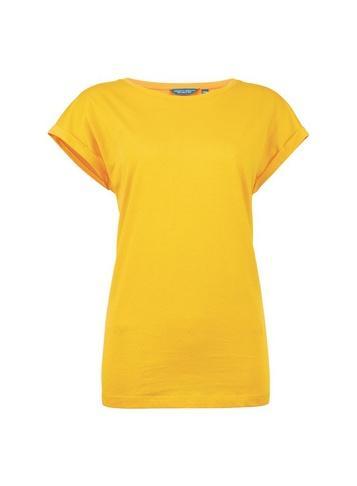 Dorothy Perkins *tall Yellow Roll Sleeve T-shirt