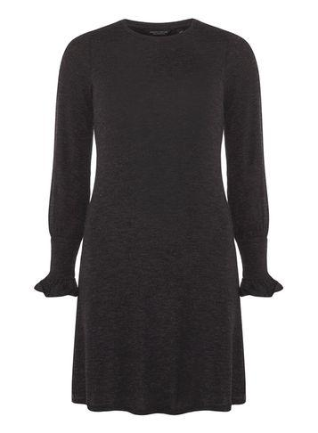 Dorothy Perkins Grey Ruche Cuff Swing Dress