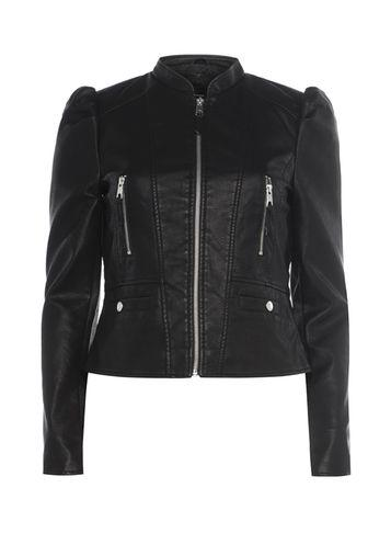 Dorothy Perkins *vero Moda Black Ruched Shoulder Biker Jacket