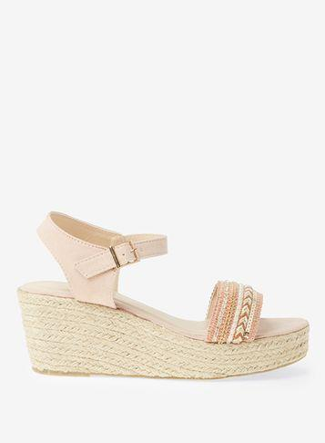 Dorothy Perkins Pink St. Lucia Beaded Wedge