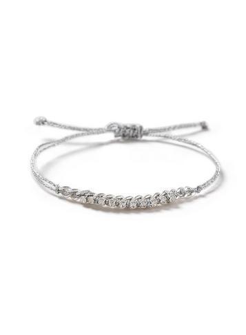 Dorothy Perkins Grey Rhinestone And Chain Bracelet