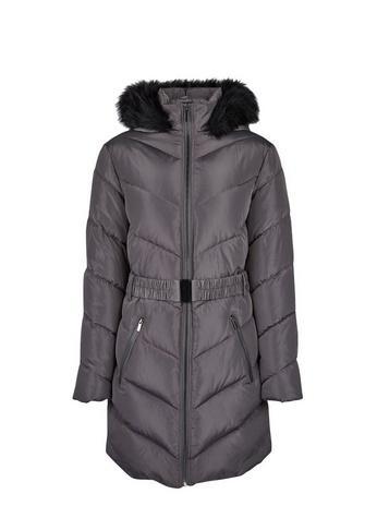 Dorothy Perkins Charcoal Long Padded Jacket