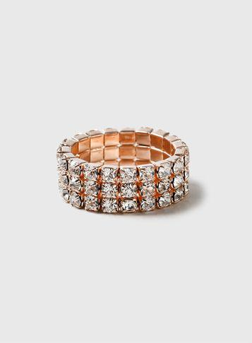 Dorothy Perkins Rhinestone Stretch Ring