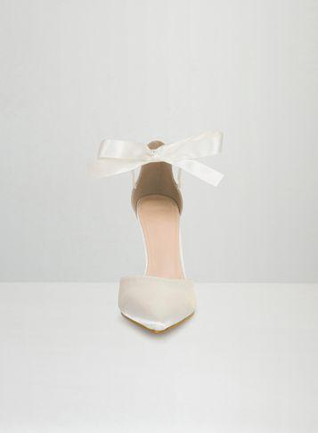 Dorothy Perkins *chi Chi London White Tie Up Court Shoes