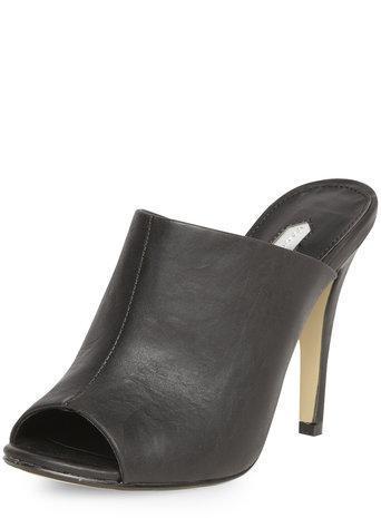 Dorothy Perkins Black High Mule Court Shoes
