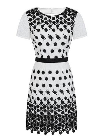 Dorothy Perkins *chi Chi London White Lace Bodycon Dress