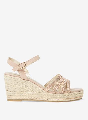 Dorothy Perkins Rose Riley Pink Espadrille Wedge Sandals