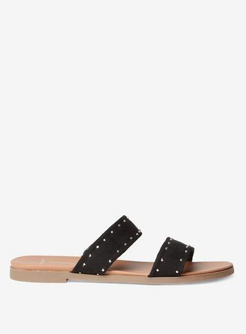 Dorothy Perkins Wide Fit Black Extra-padded 'farrel' Sandals