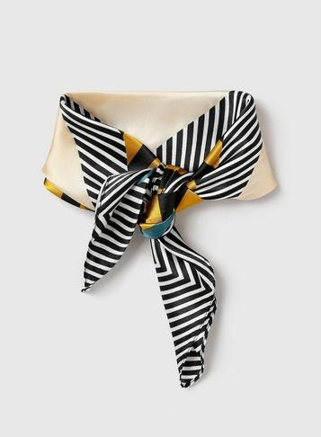 Dorothy Perkins Black Geometric Stripe Print Headband
