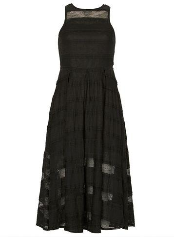 Dorothy Perkins *izabel London Black Sheer Lace Skater Dress