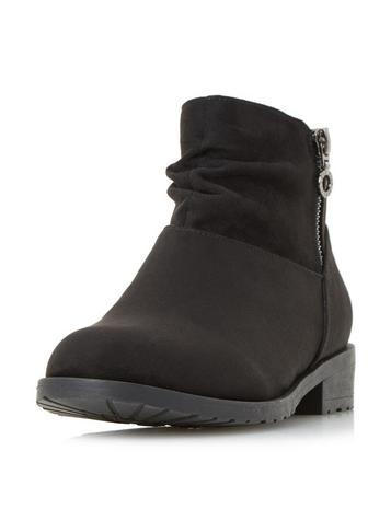 Dorothy Perkins *head Over Heels By Dune Black 'perci' Ankle Boots