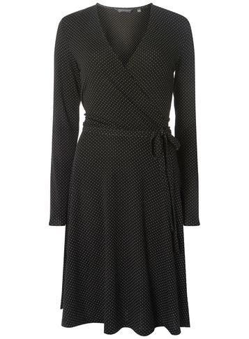 Dorothy Perkins *tall Monochrome Spotted Wrap Dress