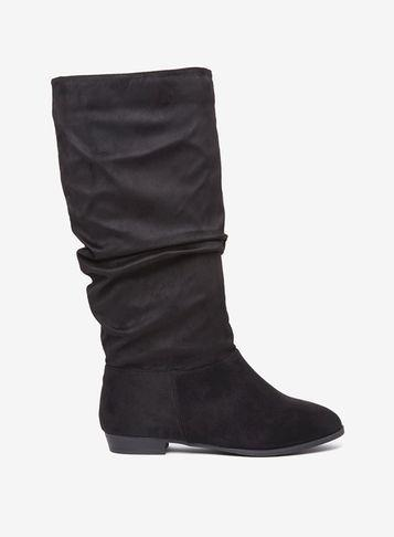 Dorothy Perkins Wide Fit Black 'tessa' Ruched Boots