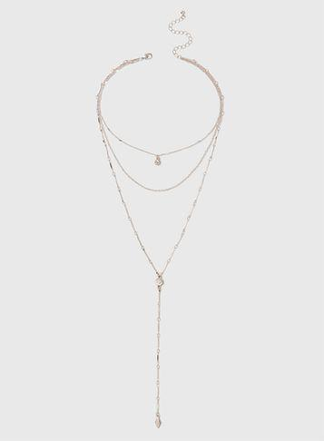 Dorothy Perkins Gold Multi Row Necklace