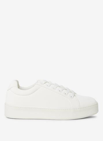 Dorothy Perkins White Ivanka Lace Up Trainers