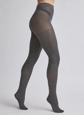 Dorothy Perkins Grey 1 Pack Cable Knit Tights