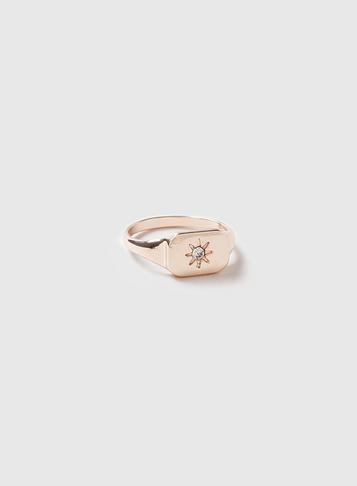 Dorothy Perkins Rose Gold Star Signet Ring