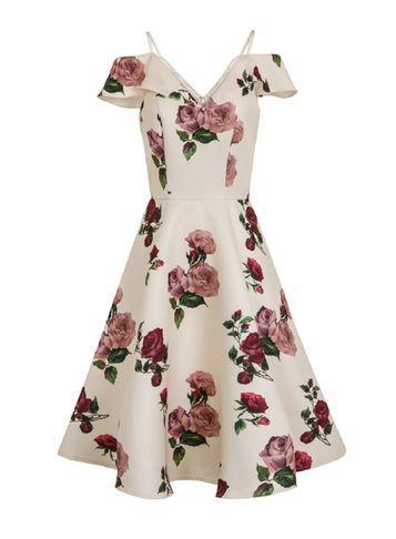 Dorothy Perkins *chi Chi London Cold Shoulder Midi Dress