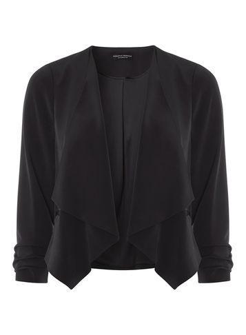 Dorothy Perkins Black Soft Waterfall Jacket